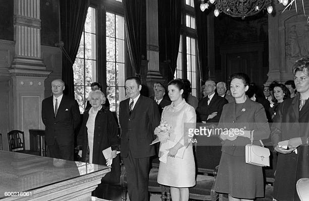 Marriage of René Goscinny and Gilberte PolaroMillo in the city hall of the 16th district of Paris