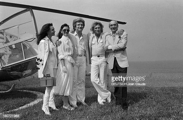 Marriage Of Singer Eddy Mitchell And Muriel Bailleul In Saint-tropez. France, Saint-Tropez, 24 mai 1980, le chanteur, parolier et acteur français...
