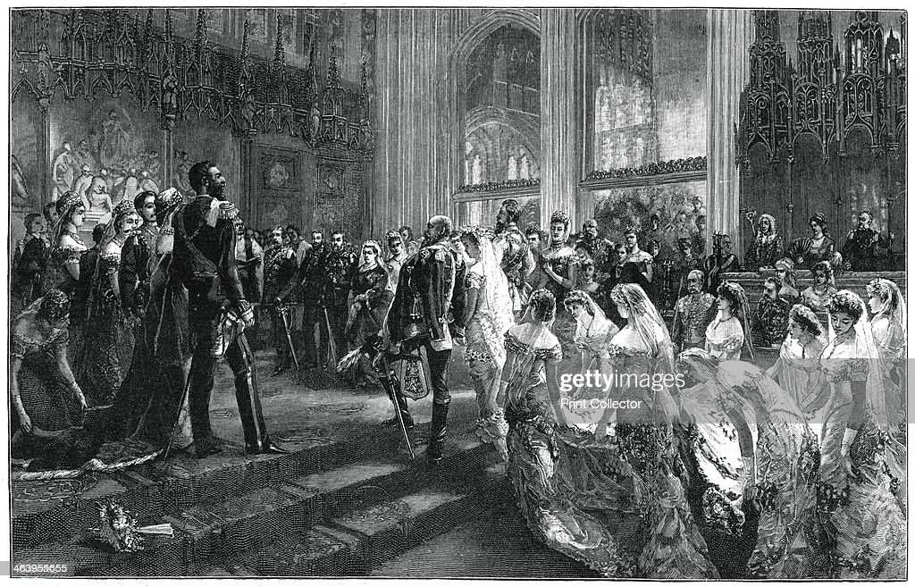 Marriage of the Duke and Duchess of Connaught, 13 March 1879, (1900).Artist: Sydney Prior Hall : News Photo