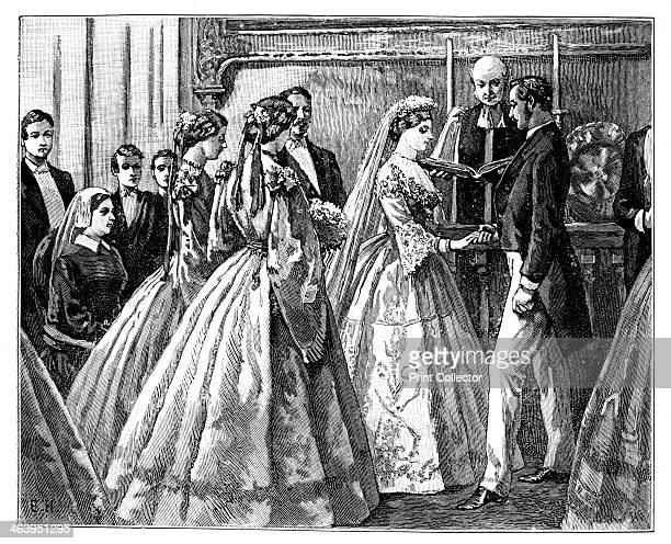 Marriage of the Princess Alice and Duke Ludwig of Hesse 1 July 1862 Alice daughter of Queen Victoria married Ludwig IV Grand Duke of Hesse at the...