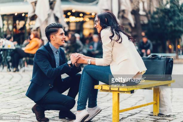 marriage proposal - love you stock photos and pictures