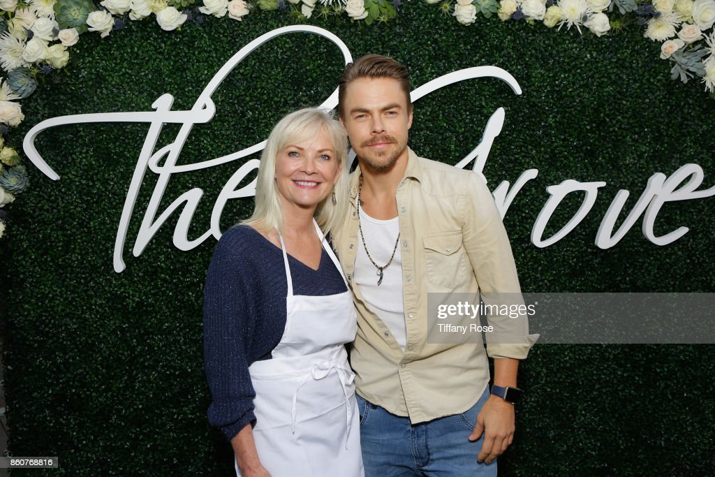 Marriann Nelson and son Derek Hough host Paint & Sip & Help event to Benefit Children's Hospital Los Angeles at The Grove on October 12, 2017 in Los Angeles, California.