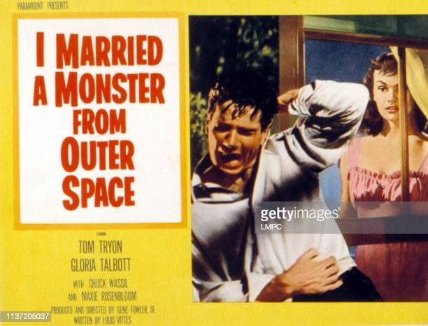 I Married A Monster From Outer Space lobbycard Tom Tryon Gloria Talbott 1958