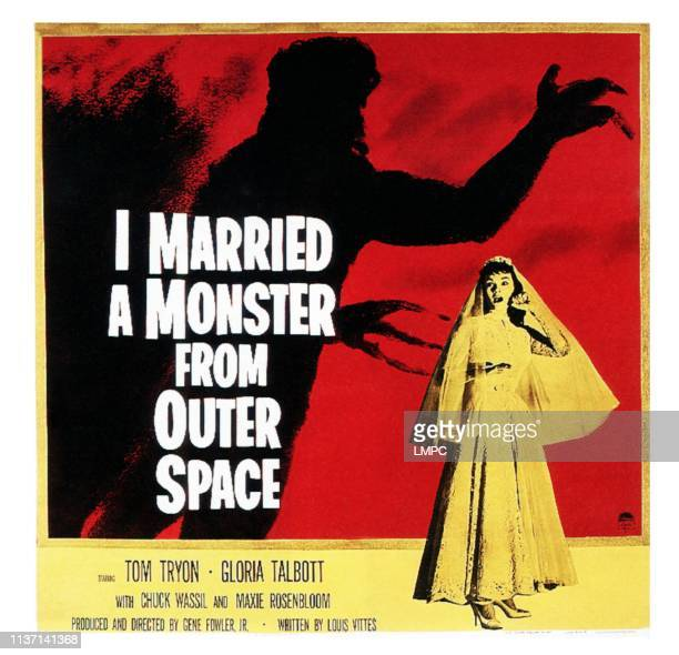 I Married A Monster From Outer Space poster Gloria Talbott on poster art 1958