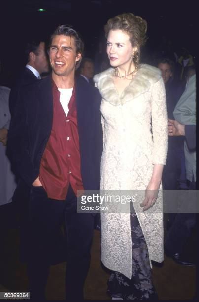 Married actors Tom Cruise Nicole Kidman at the film premiere of Jerry Maguire