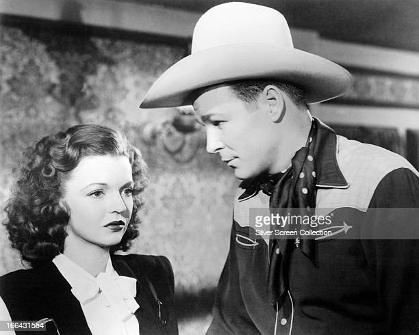 Married American actors Dale Evans and Roy Rogers circa 1950