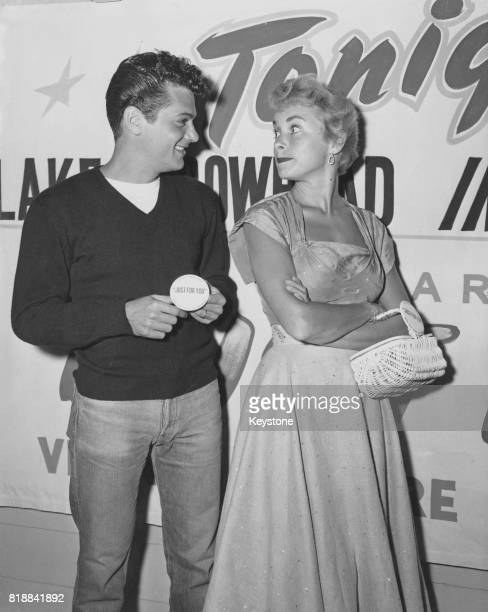 Married American actors Tony Curtis and Janet Leigh at Lake Arrowhead California circa 1955