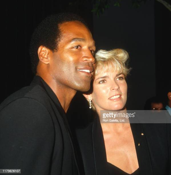 Married American couple OJ Simpson and Nicole Brown Simpson attend the 'Ishtar' premiere at the Plitt Theater Century City California May 13 1987