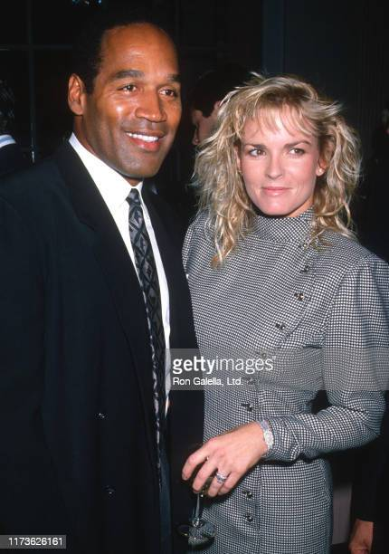 Married American couple OJ Simpson and Nicole Brown Simpson attend the Fight Against Paralysis Benefit at the Waldorf Hotel New York New York...