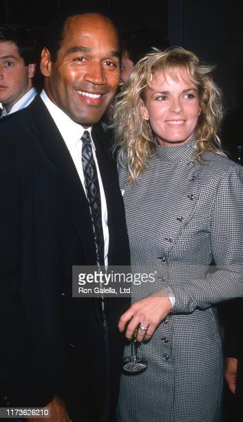 Married American couple OJ Simpson and Nicole Brown Simpson attend the Fight Against Paralysis Benefit at the Waldorf Hotel, New York, New York,...