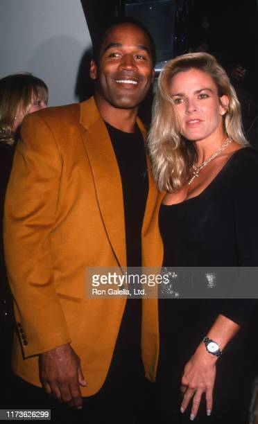 Married American couple OJ Simpson and Nicole Brown Simpson attend the grand opening of the Harley-Davidson Cafe, New York, New York, September 26,...