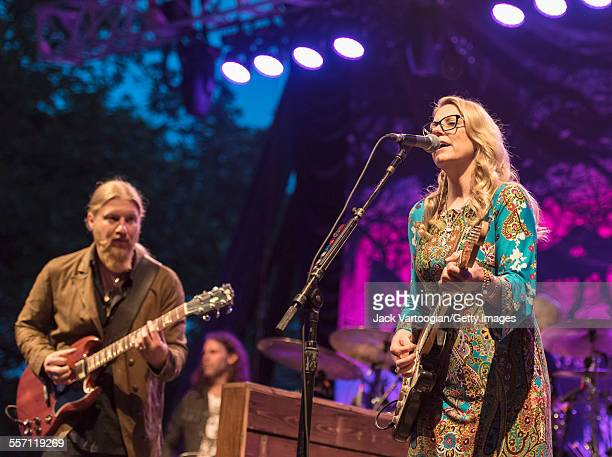 Married American musicians Derek Trucks and Susan Tedeschi perform with the Tedeschi Trucks Band on opening night of the 30th Anniversary season of...