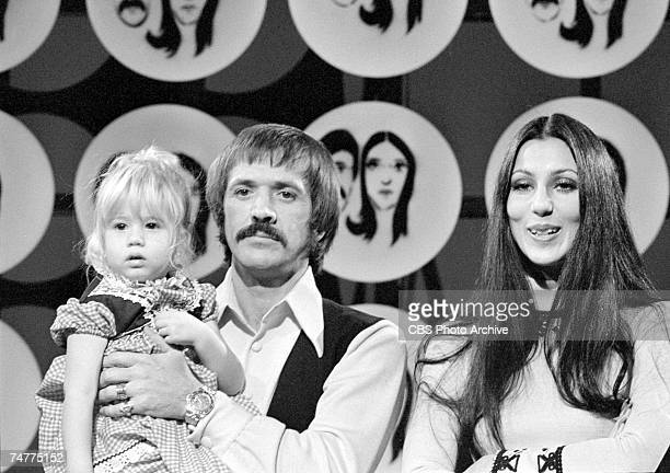 Married American singing and acting duo Sonny Bono and Cher appear with their daughter Chastity Bono on an episode of the television variety show...