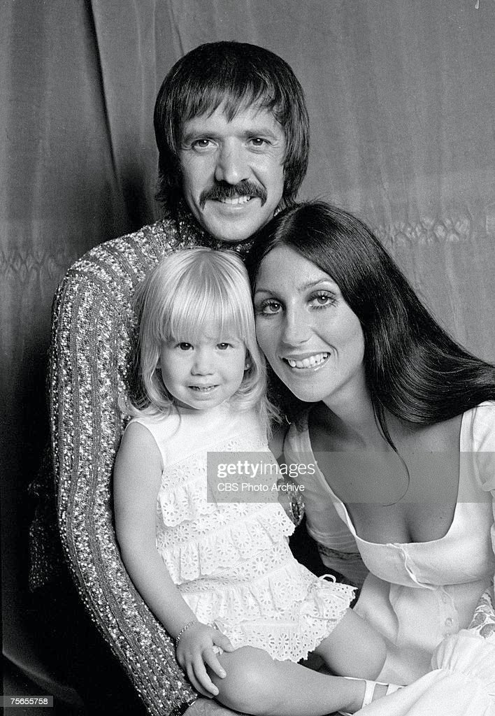Married American singing and acting duo Sonny Bono (1935 - 1998) (born Salvatore Philip Bono) and Cher (born Cherilyn Sarkisian LaPiere) pose with their daughter Chastity Bono for the television variety show 'The Sonny and Cher Comedy Hour,' July 1, 1971.