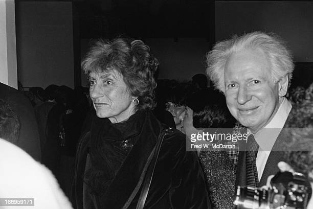Married artist couple painter Mercedes and photographer Herbert Matter attend an exhibit at the Whitney Museum New York New York November 21 1978