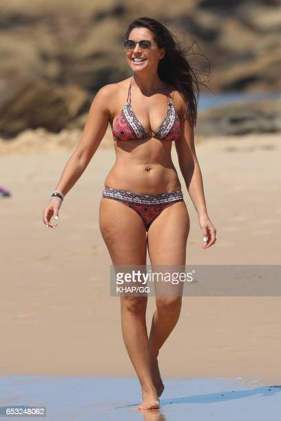 Married At First Sight star Christie Jordee is seen on a beach outing on March 12 2017 in Sydney Australia