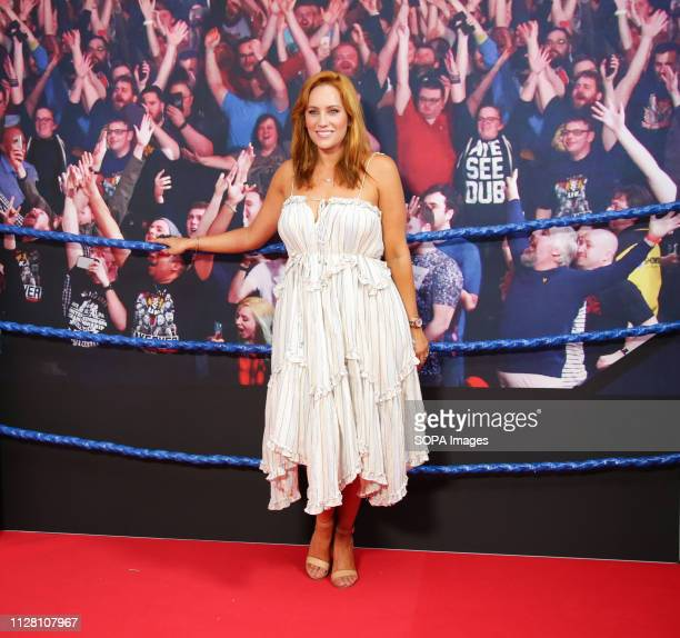 CINEMAS SYDNEY NSW AUSTRALIA Married at First Sight Star Jules Robinson attends the premiere of Fighting With My Family at Event Cinemas George Street