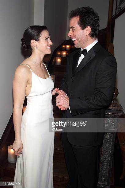 Married couple American comedian Jerry Seinfeld and Jessica Seinfeld after their wedding New York New York December 25 1999