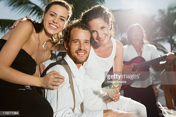 married couple and female friend - girlfriend stock pictures, royalty-free photos & images
