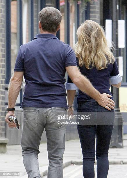 Married couple Christian Horner and Geri Halliwell are pictured taking a stroll on August 20, 2015 in London, England.