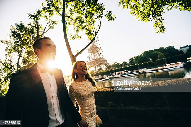 Married couple enjoying by the river