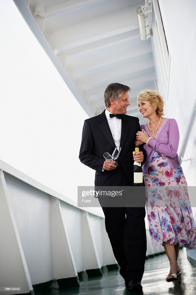 Married Couple On Cruise Ship High-Res Stock Photo - Getty ...