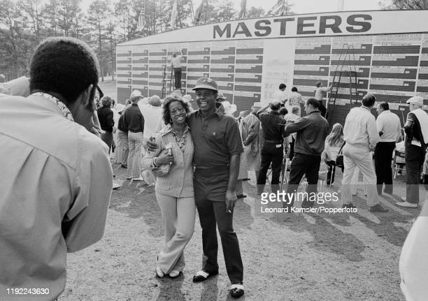 Rose Harper Elder with her husband Lee Elder the first AfroAmerican to compete at the US Masters Golf Tournament at the Augusta National Golf Club in...