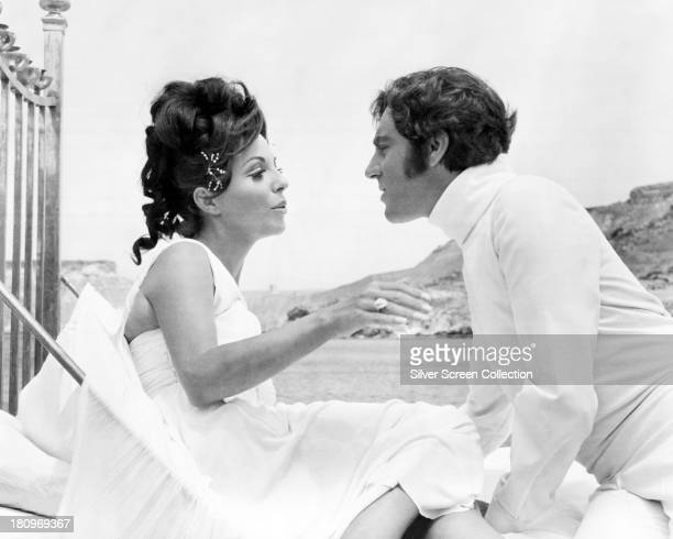 Married English actors Anthony Newley as Heironymus Merkin and Joan Collins as Polyester Poontang in 'Can Heironymus Merkin Ever Forget Mercy Humppe...