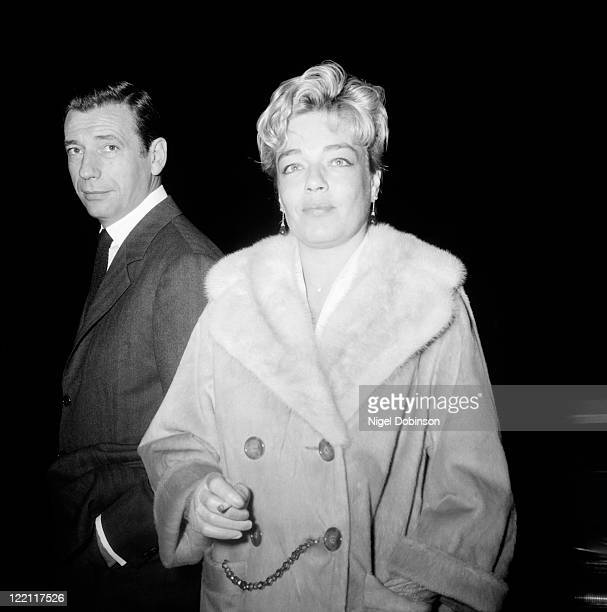 Married French actors Simone Signoret and Yves Montand circa 1960
