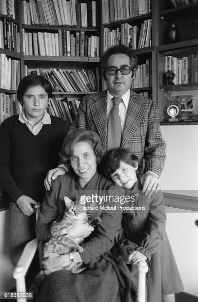 Married German couple Serge and Beate Klarsfeld with their children Arno and Lida are private Nazi hunters and authors In 1971 Beate Klarsfeld...