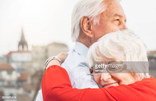 Married senior couple in love