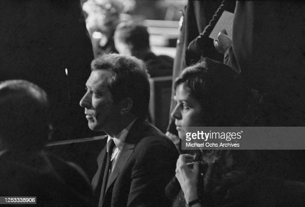 Married singers Andy Williams and Claudine Longet attend the funeral of assassinated US Senator Robert F Kennedy at Saint Patrick's Cathedral in New...