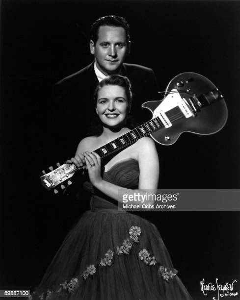 Married singing/songwriting duo Les Paul Mary Ford pose for a portrait in circa 1955