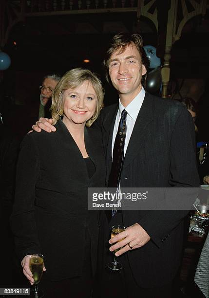 Married TV presenters Richard Madeley and Judy Finnigan attend a performance of the musical 'Heathcliff' at Labatts Apollo London 12th February 1997