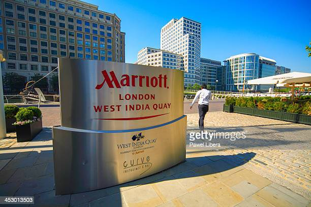 Marriott Hotel at West India Quay in London's Docklands Financial District