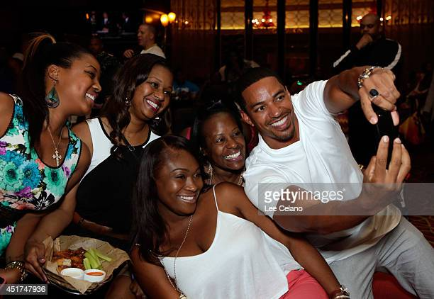 Marriott International partners with actor Laz Alonso for a surprise selfie during ESSENCE Festival on July 4 2014 in New Orleans Louisiana
