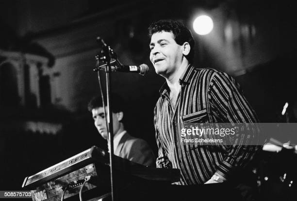 Marrocan singer Cheb Mimoun el Guedj, organ-vocal, performs at the Paradiso on 19th January 1991 in Amsterdam, Netherlands.