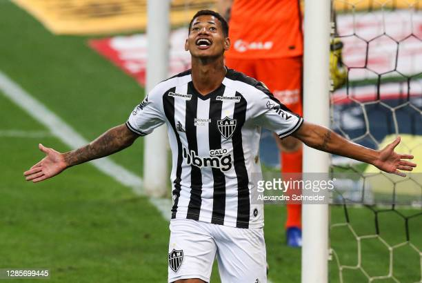 Marrony of Atletico MG celebrates after scoring the second goal of his team during the match against Corinthians as part of Brasileirao Series A 2020...