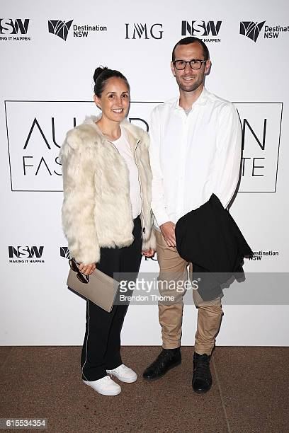 Marry Lou Ryan and Billy Voss arrives at the Australian Fashion Laureate Awards on October 19 2016 in Sydney Australia