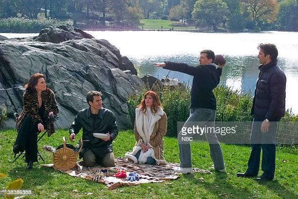 WILL GRACE 'Marry Me a Little More' Episode 9 Pictured Megan Mullally as Karen Walker Eric McCormack as Will Truman Debra Messing as Grace Adler Sean...