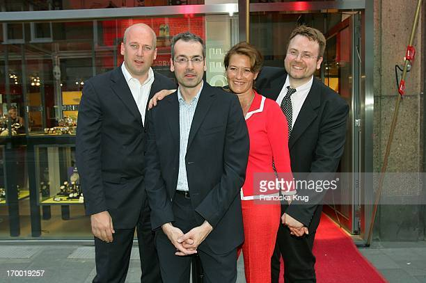"Marrying inventor Jens Schniedenharn with wife Suzanne Von Borsody, Andreas Nonhoff And Stefan Nonhoff At The Store Opening ""Marrying - Nonhoff"" In..."