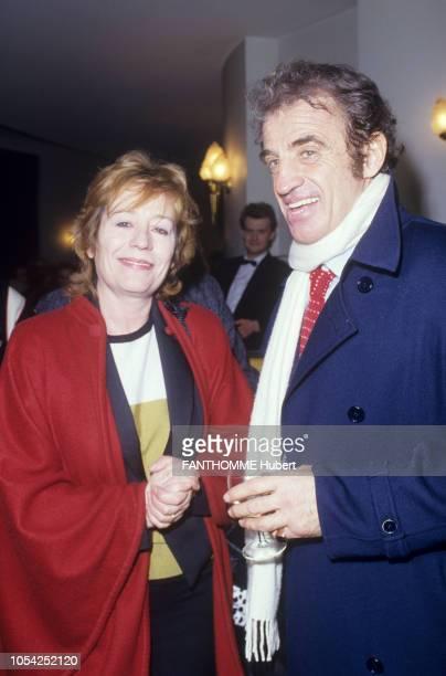 PARIS 3 mars 1987 La première de la pièce 'Kean' mise en scène par Robert HOSSEIN au théâtre Marigny avec JeanPaul BELMONDO et Sabine HAUDEPIN plan...