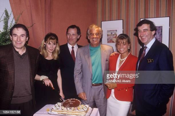 PARIS mars 1991 Dîner au Chiberta après la représentation de la pièce de théâtre Une maison de poupée mise en scène par Michel FAGADAU à la Comédie...