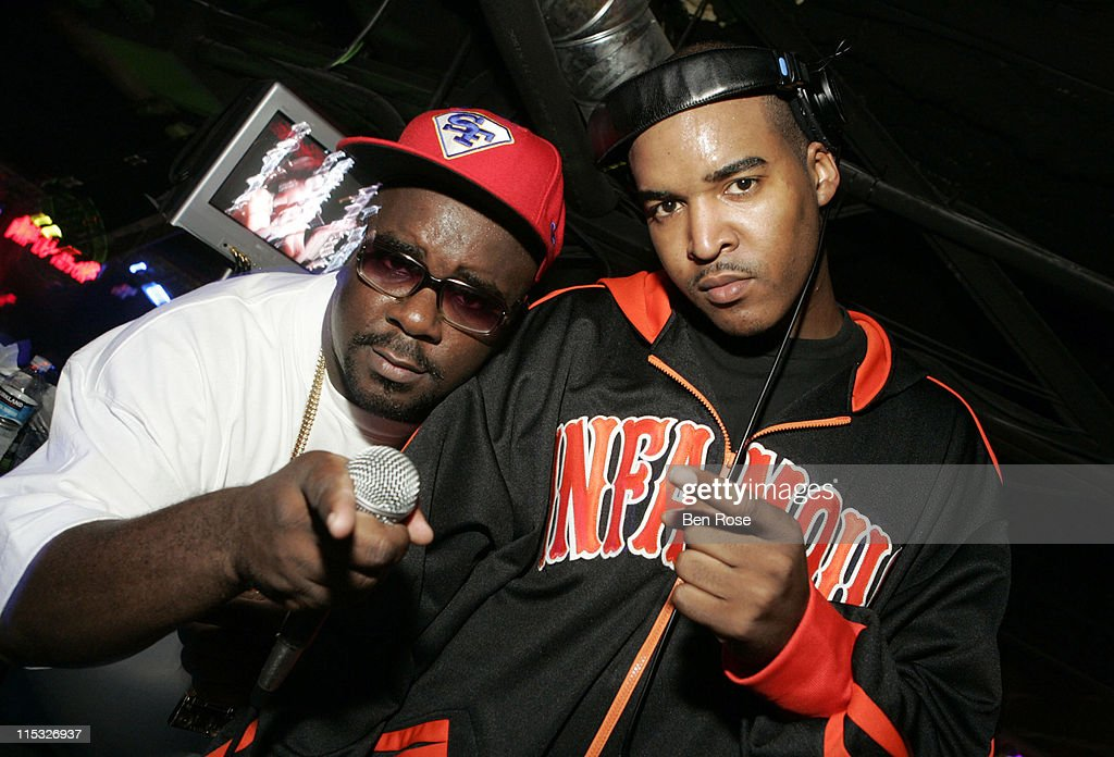 DJ Mars and DJ Infamous of the Super Friends during 2006 BET Hip-Hop Awards - After Party at Atlanta Peach Ballroom in Atlanta, Georgia, United States.