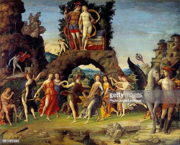 Mars and Venus or Parnassus Painting representing Mars and Venus on a rock Pegasus and Mercury Apollo and the nine Muses Calliope Clio Erato Euterpe...