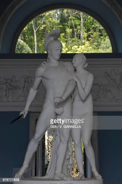 Mars and Venus sculpture by Luigi Acquisti in the main hall of Villa Carlotta Tremezzina Lombardy Italy