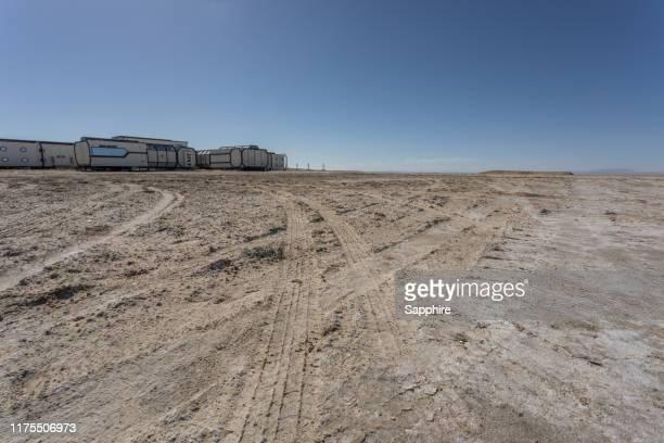 mars camp, qinghai province, china - base militare foto e immagini stock