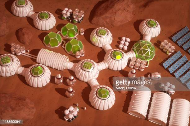 mars colony - colony stock pictures, royalty-free photos & images