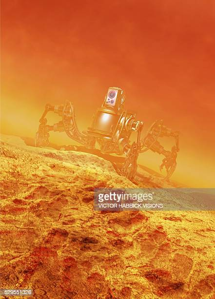 mars exploration, conceptual artwork - victor habbick stock pictures, royalty-free photos & images