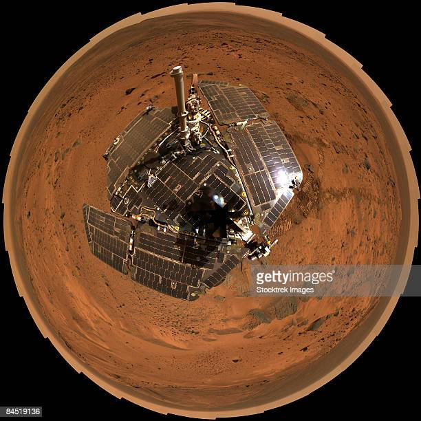 Mars Exploration Rover on the surface of Mars.